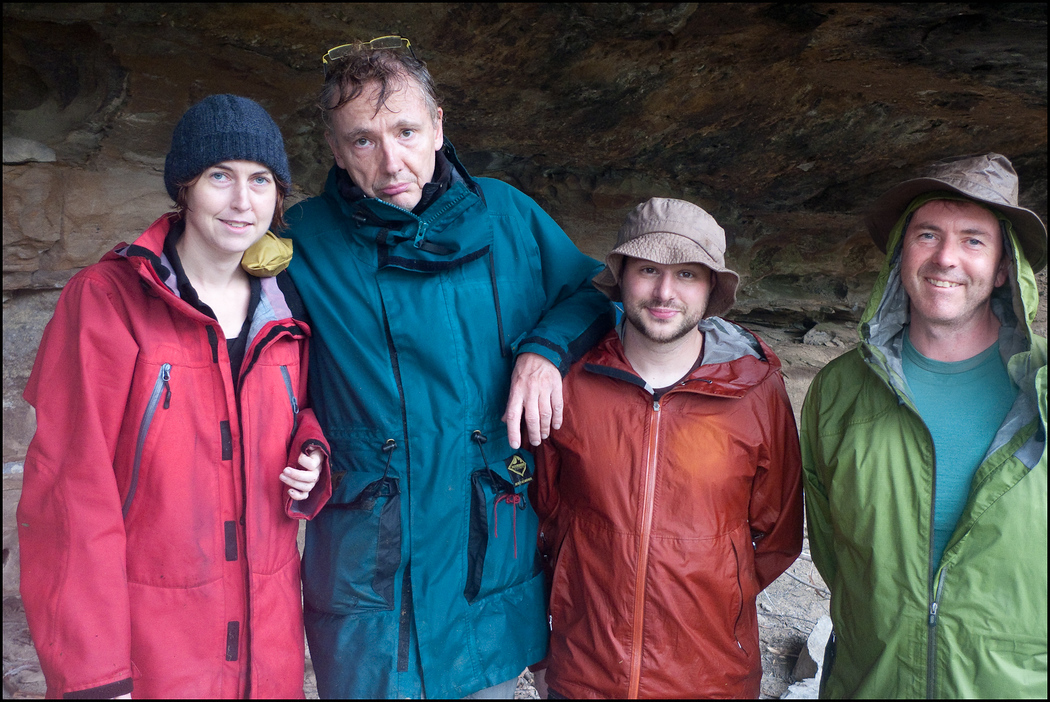 After our arrival in the rain at the camping cave, Paul insists that a photo of the