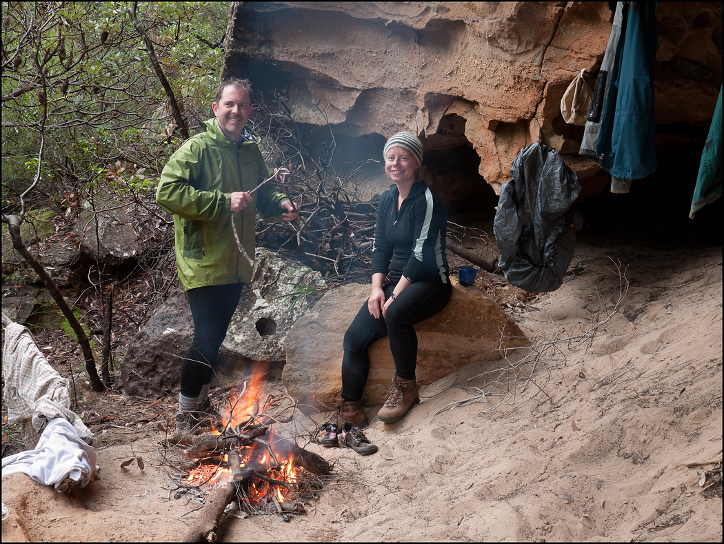 Paul and Lise at the Serendipitious Cave